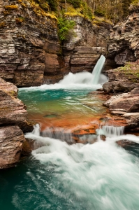 St. Mary Falls, Glacier National Park, Montana (MT), USA
